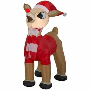 Gemmy Rudolph the Red Nosed Reindeer Inflatable